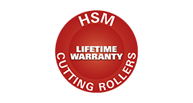 Lifetime warranty on steel cutting rollers