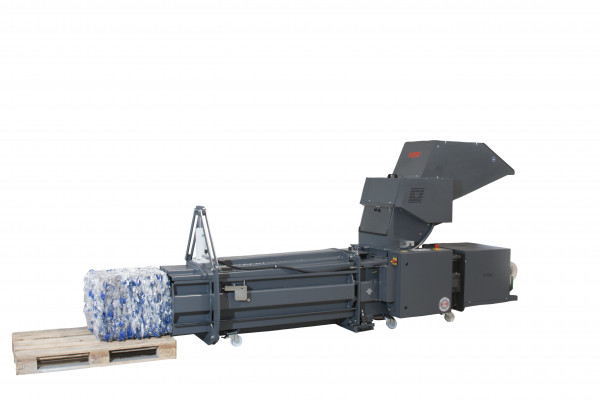 Crusher-Pressen-Kombination HSM PET CP 4988